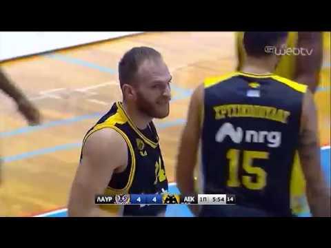 Basket League 2019-2020: ΛΑΥΡΙΟ – ΑΕΚ | 23/11/2019 | ΕΡΤ