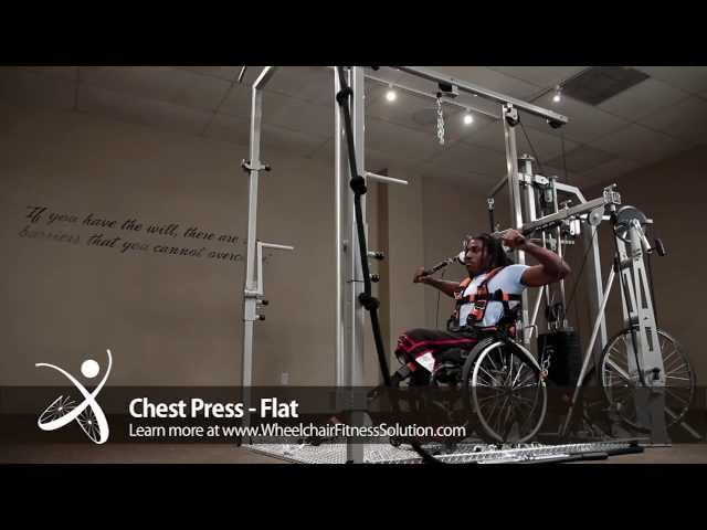Wheelchair Fitness Solution | Exercise: Chest Press – Flat (26 of 40)