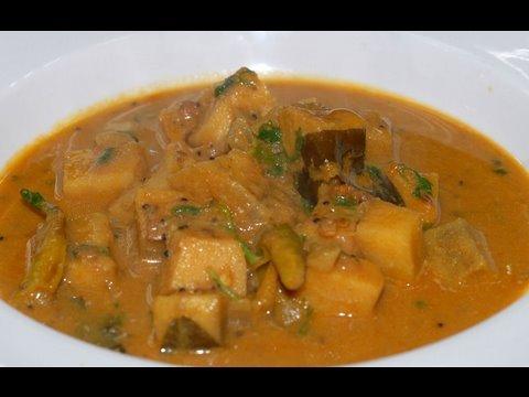 yam cooked with tamarind Pulusu puli