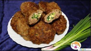 Мясные зразы с яйцом и зелены луком