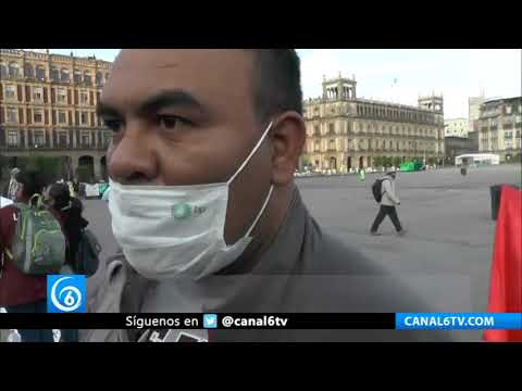 Campesinos de Morelos se manifestaron frente a Palacio Nacional