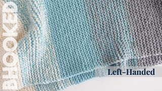 {Left-Handed} How to Knit a Baby Blanket for Complete Beginners - Easy Knit Baby Blanket