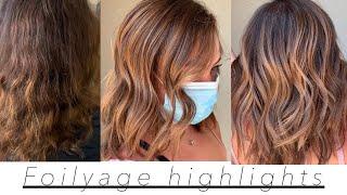 Warm Chestnut Blonde | Foilyage | Highlights | Balayage | Tutorial