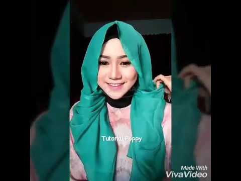 Video Tutorial Hijab Paris Segiempat Simple Tanpa Jarum Pentul Ala Poppy l Trend Hijab Style 2016