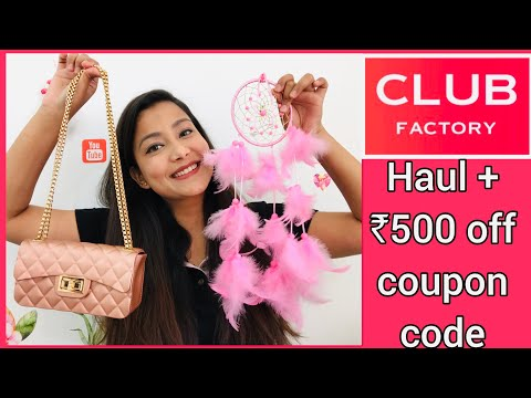Club Factory Haul   Coupon code - 3629816   Bag, Earrings, Random products   Cherry's World  