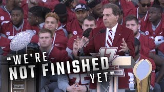 Hear what Nick Saban, senior captains had to say at Alabama