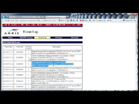 Arris / Motorola SB6183 modem LED lights function