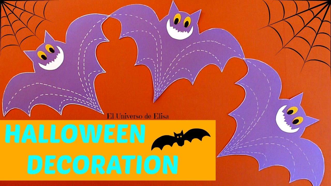 Decoración para Halloween/Día de los Muertos, Murciélagos, Guirnalda Murciélagos de Papel