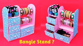How To Make Bangle Stand At Home With Waste Cardboard   Best Out Of Waste   Diy Jewellery Organizer