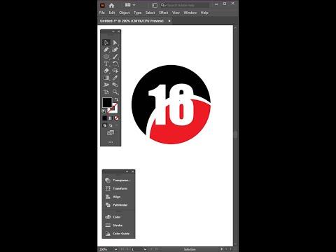 Illustrator Tutorial | Number 16 Logo Design | How to make logo design in Adobe Illustrator CC