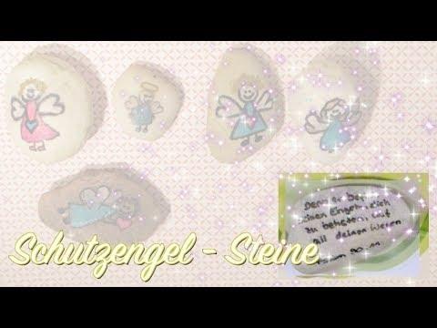 Schutzengel - Steine - Geschenke basteln zur Geburt, Taufe, Kommunion, Konfirmation, ...