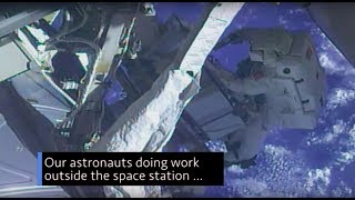 Astronauts Working Outside the Space Station on This Week @NASA – May 18, 2018