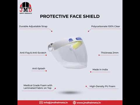 PC Safety Face Shield (Customised & With Company Logo) For Pharma Industry