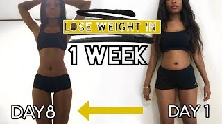 HOW I LOST 15 POUNDS IN ONE WEEK   Lose weight fast Diet Journey