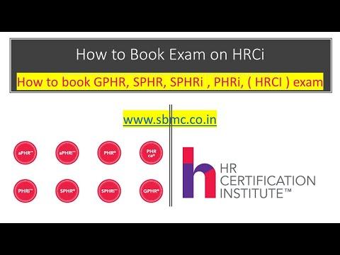 How to book GPHR, SPHR, SPHRi , PHRi, ( HRCI ) exam , use ...