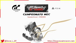 Campeonato WEC (2/11) GT Sport - Suzuka (Onboard)