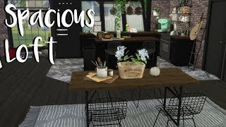 The Sims 4: Speed Build- SPACIOUS LOFT + CC List