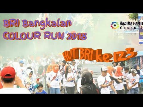 Serunya Moment BRI Bangkalan Colour Run 2018 | HUT BRI ke 123 tahun
