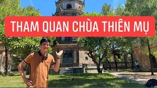 Khương Dừa tham quan chùa Thiên Mụ (Huế) cũng không yên, bị hơn chục fangirl làm phiền?