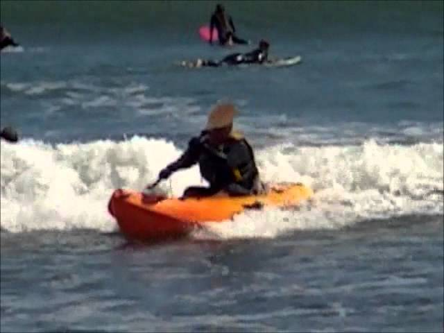 Ocean Kayak Frenzy Sit on Top Kayak in Small Surf.wmv