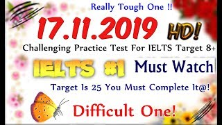 IELTS LISTENING PRACTICE TEST 2019 WITH ANSWERS | 17.11.2019