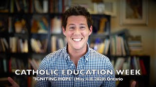 """Igniting Hope"" this CATHOLIC EDUCATION WEEK"