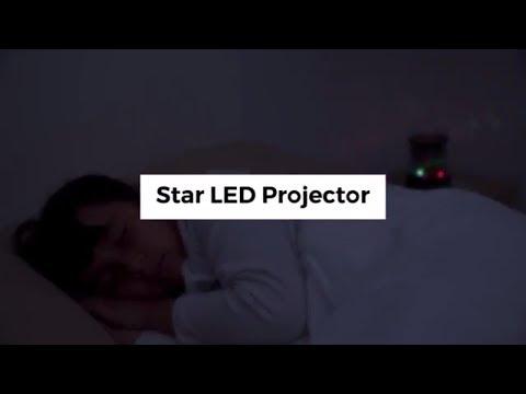¿Tus hijos tienen miedo a la oscuridad? Soluciónalo con la lámpara - proyector LED de estrellas