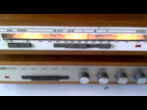 Ebay Test : alte DDR - Stereoanlage ( Tuner, Verstärker, Boxen ) mit Holzgehäuse