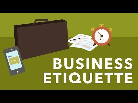 mp4 Business Etiquette, download Business Etiquette video klip Business Etiquette