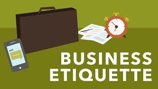 <span class='sharedVideoEp'>006</span> 職場商業基本禮節 Business Etiquette Basics