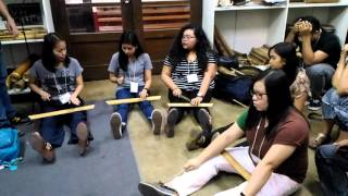 Patatag/pateteg (Bamboo Leg-xylophone)