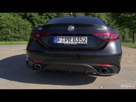 Alfa Romeo Giulia 2.0 Turbo (280 PS): Sound / Beschleunigung 0 - 240 km/h - Autophorie