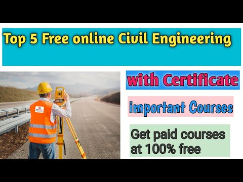 Top 5 Free Online Civil Engineering Courses With Certificate | Free ...