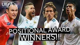 NAVAS, RAMOS, MODRIĆ, RONALDO: Positional Award Winners for the 2017/18 UEFA Champions League