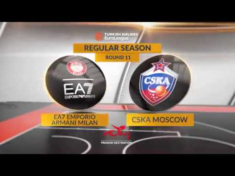 EuroLeague Highlights RS Round 11: EA7 Emporio Armani Milan 64-79 CSKA Moscow