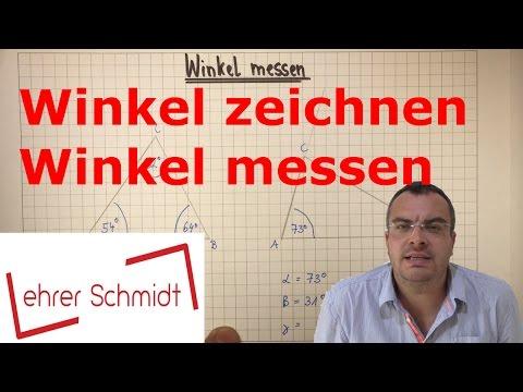 Winkel zeichnen - Winkel messen | Mathematik | Geometrie | Lehrerschmidt - einfach erklärt!