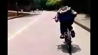 Joven En Cali Murió Cuando Realizaba Peligrosa Maniobra En Bicicleta Bajando Por Una Vía