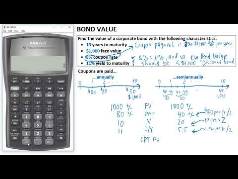 Find Bond Value - annual vs semiannual coupons