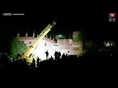 الحماية المدنية تواصل رفع حطام حادث قطار حلوان