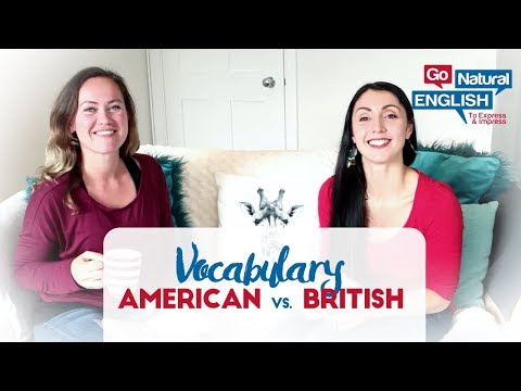 What's the difference between American vs British English vocabulary?
