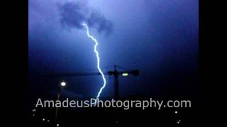preview picture of video 'Lightning over Douglas, Isle of Man - Slow Motion Footage at 210fps'