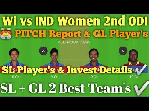 IND vs WI Women 2nd ODI Match Dream 11 Team.