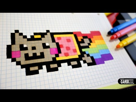 Dessin Carreau Nyan Cat