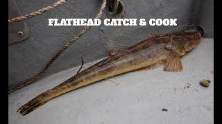 Flathead catch & cook Asian deep fried (Kuala Lukut ikan tanda, bebaji)