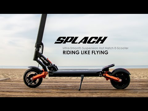 SPLACH:Ultra-Smooth Suspension E-Scooter-GadgetAny