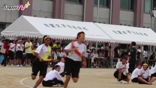佐賀女子 体育祭 スウェーデンリレー