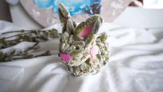 Пасхальный кролик из вербы мастер класс/пасхальный декор из вербы