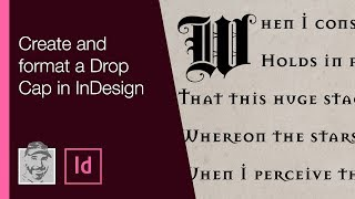 Create And Format A Drop Cap In InDesign