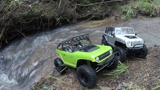 Axial Deadbolt and Jeep Rubicon - Down in tha Creek - Dogwood Park