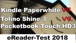 eReader Vergleich: Kindle Paperwhite vs. Tolino Shine 3 vs. Pocketbook Touch HD3